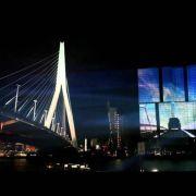 Самая огромная в Европе видеопроекция на фасаде небоскреба